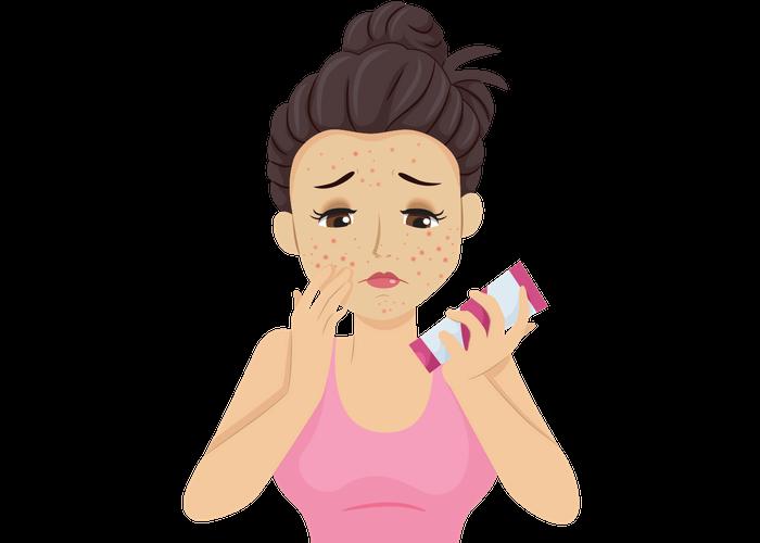 menopause zits