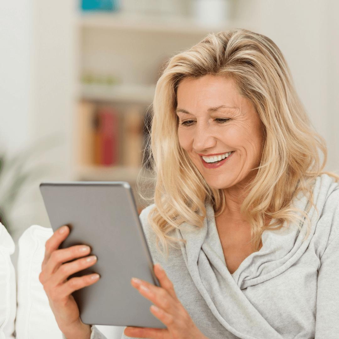 woman - social media