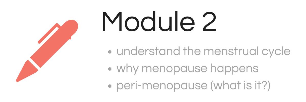 Module 2 menopause course