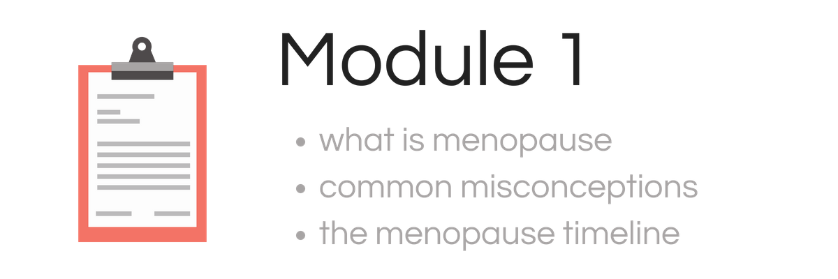 Modual 1 -Menopause Course