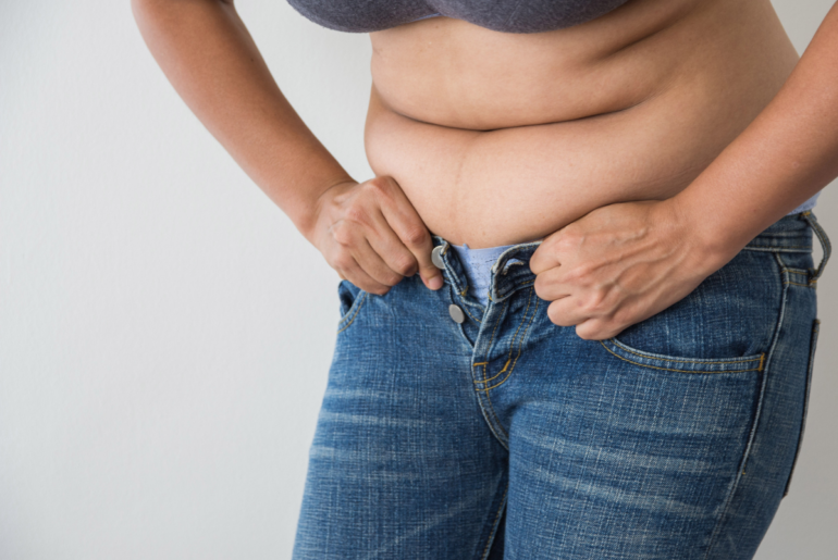 woman with perimenopause weight gain